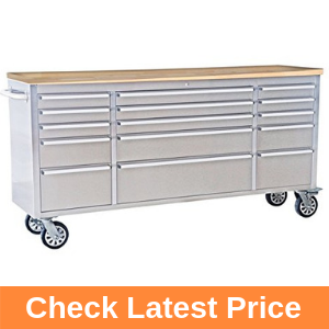 "72"" Wide 15 Drawer Stainless Steel Anti-Fingerprint Tool Chest"