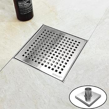 Bernkot 6 inch Square Shower Drain