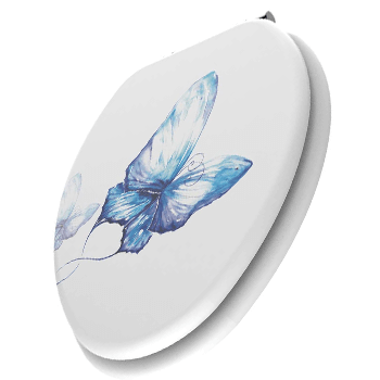Elongated Butterfly Printing Toilet Seat Review