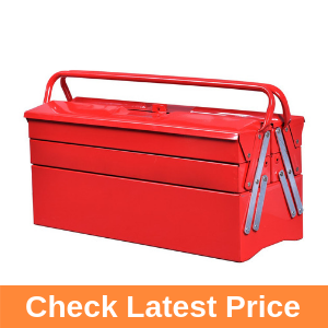 Goplus 20-Inch Portable 5-Tray Cantilever Metal Tool Box