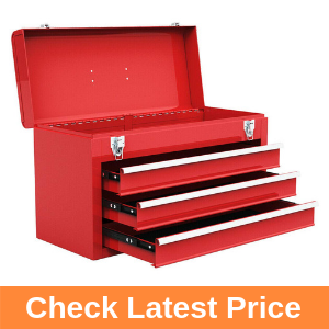 Goplus Tool Chest 20-Inch Portable Tool Box Steel Cabinet