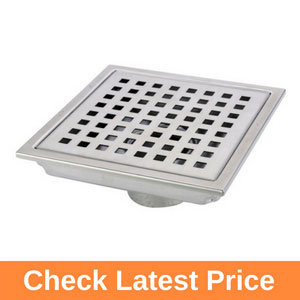 HANEBATH 6 Inch Square Shower Floor Drain