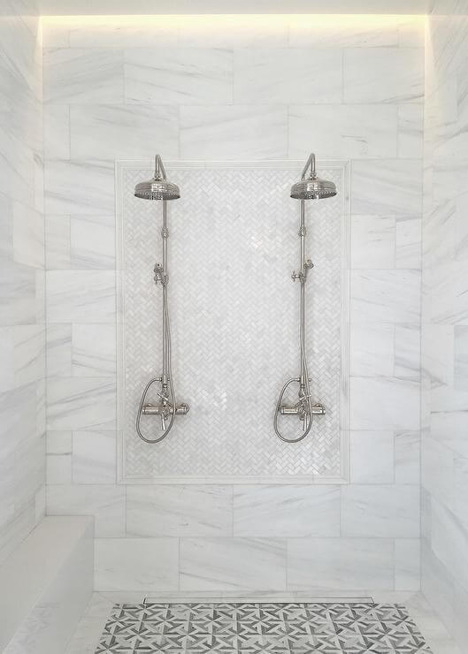 His and her shower head