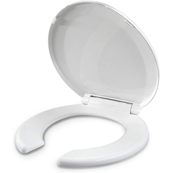 Open Front Round Toilet Seat For Rental or Commercial Use