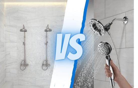 dual shower head vs second shower head