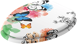 beautiful butterfly toilet seat